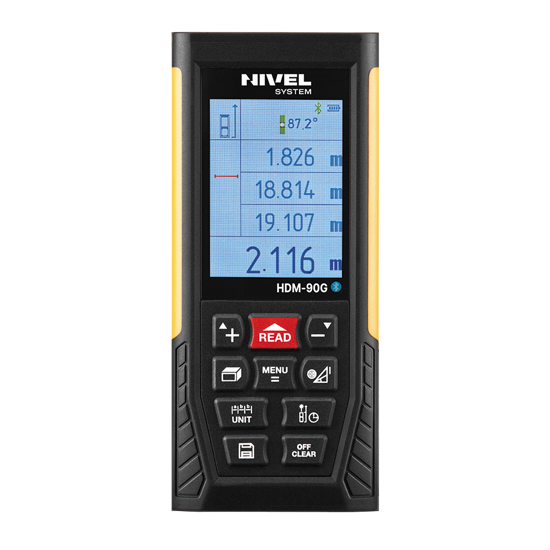 Obrázek Laserový dálkoměr NIVELSYSTEM HDM90G - dosah 90m USB Bluetooth